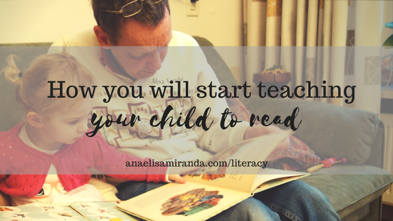 Start teaching your child to read